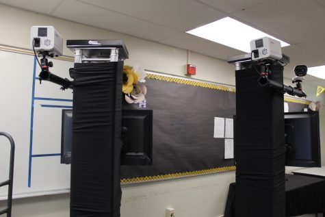 Currently being housed in Room 20, the two thermal cameras will be moved under the overhang at the entrance to the main hallway to Sunny Hills Nov. 2, when students and staff will be allowed to return to campus for live classroom instruction as part of the hybrid learning model. The Fullerton Joint Union High School District paid 5,000 for each camera, which will be used to help school officials to easily check the temperatures of students as they arrive on campus.