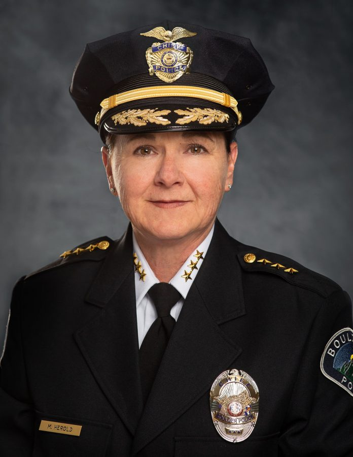 Boulder%27s+Chief+of+Police+Maris+Herold+is+new+to+the+Boulder+Police+but+has+been+an+officer+for+over+three+decades.+