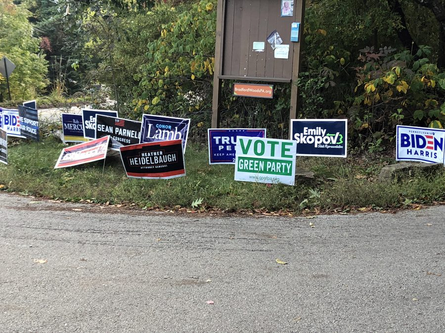Political+signs+have+been+taking+over+the+streets+of+North+Allegheny+in+preparation+for+next+month%27s+election.