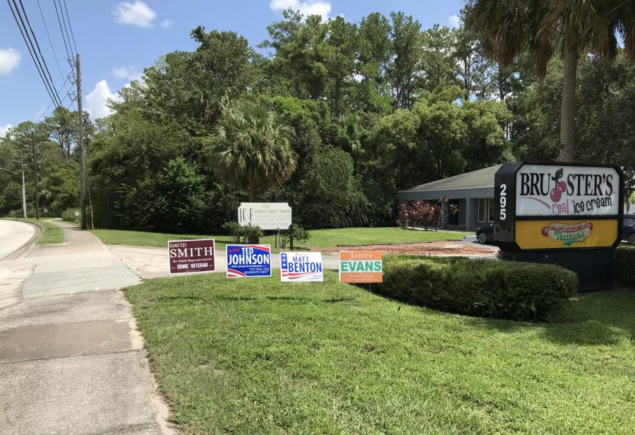 Yard+signs+for+various+political+candidates+in+the+Winter+Springs+area.+