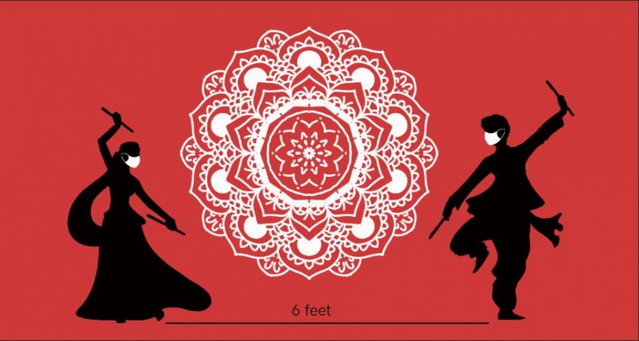 Due+to+social+distancing+protocols%2C+many+typical+festivities+including+garba+and+dandiya+have+been+forced+to+adapt.