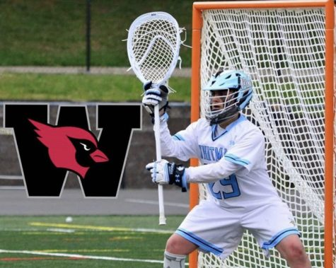Senior Caden Daniels committed to Wesleyan University for lacrosse in August.