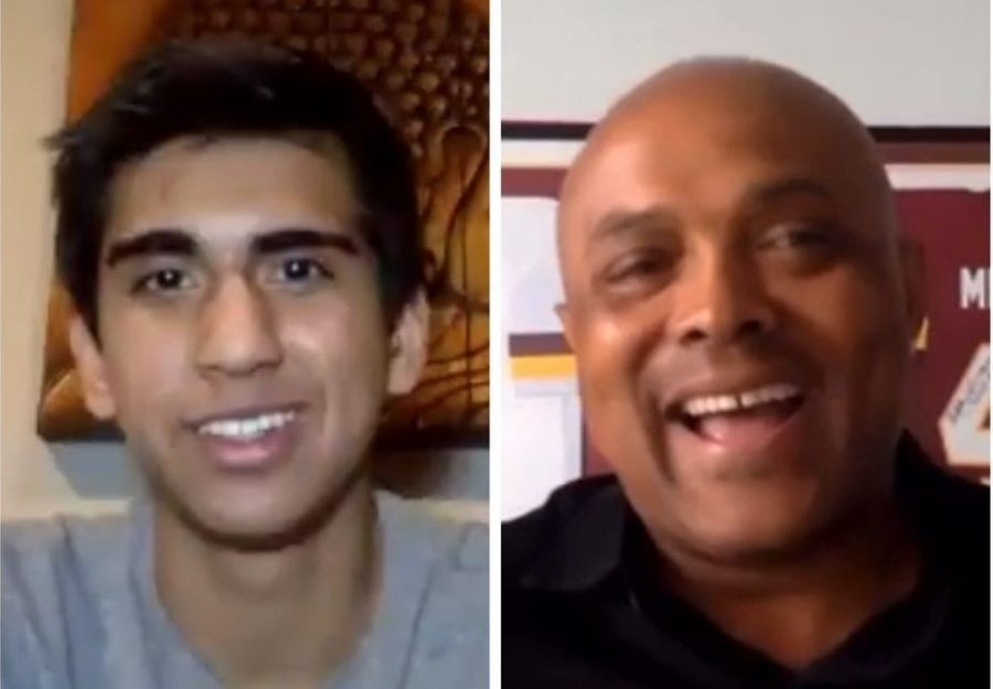 "Yaqub interviews guest and Washington football legend Brian Mitchell on his channel ""Interviews with Zach Yaqub."""