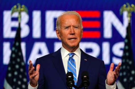 Democratic presidential candidate former Vice President Joe Biden speaks Wednesday, Nov. 4, 2020, in Wilmington, Del.