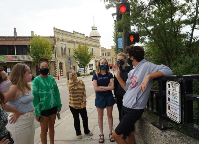 Wauwatosa+East+Sophomore+Henry+Dizard+preps+a+group+of+fellow+youth+activists+before+spending+the+day+in+the+community+rallying+for+racial+and+climate+justice+and+supporting+local+candidates.
