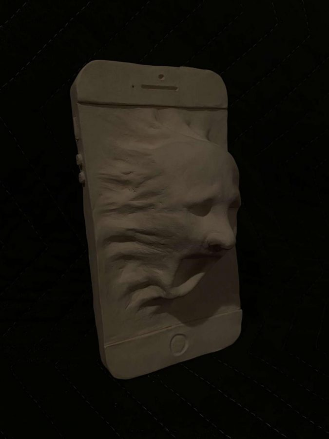 "AP Art student Matthew Milani produces sculptures surrounding theme of ""man and technology"""