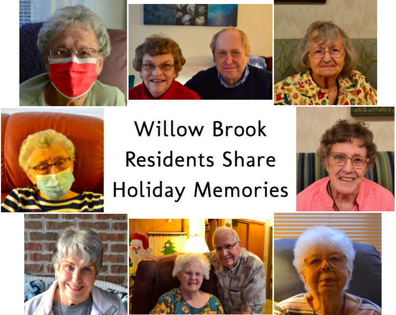 Residents of the Willow Brook assisted living facility in Delaware, Ohio shared some of their favorite holiday moments. Because nursing home visitation has been limited this year, many residents did not get to experience some long-honored holiday traditions.