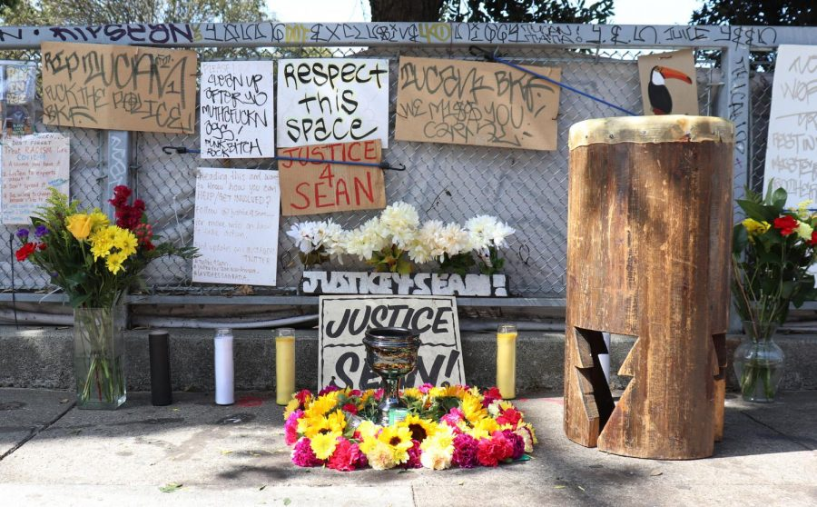 A+memorial+for+Sean+Monterrosa+that+family+members+put+together.