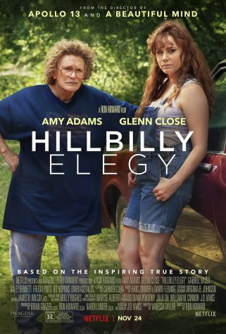 "This is the movie poster for ""Hillbilly Elegy,"" released in theaters on Nov. 11 and to Netflix on Nov. 24."