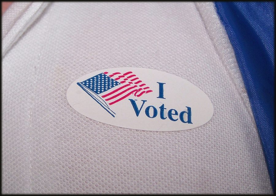 An+%E2%80%98I+Voted%E2%80%99+sticker+for+those+who+cast+their+ballot+on+Election+Day.+Photo+courtesy+of+NSPA+Flickr+Archives