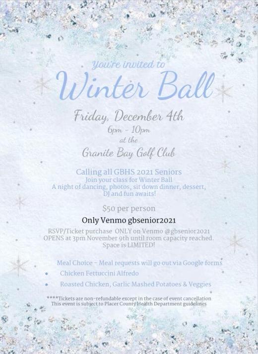 Winter Ball — COVID-19 edition