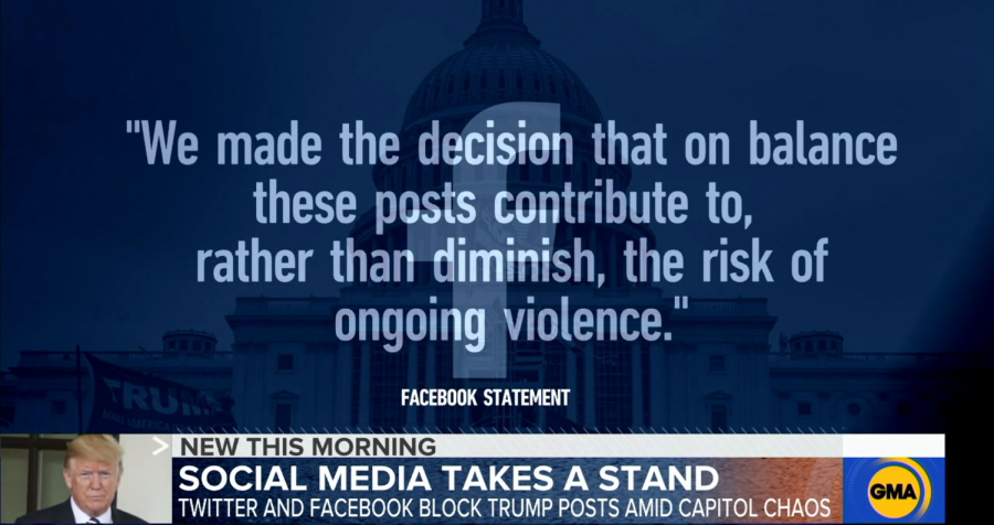 After the siege on the US Capitol on Jan. 6, social media platforms including Facebook, Twitter and Instagram have temporarily shutdown Trump's accounts citing that his posts incite violence.