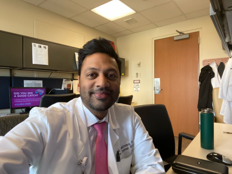 Arun Janakiraman is a healthcare worker at UPMC Presbyterian Hospital.