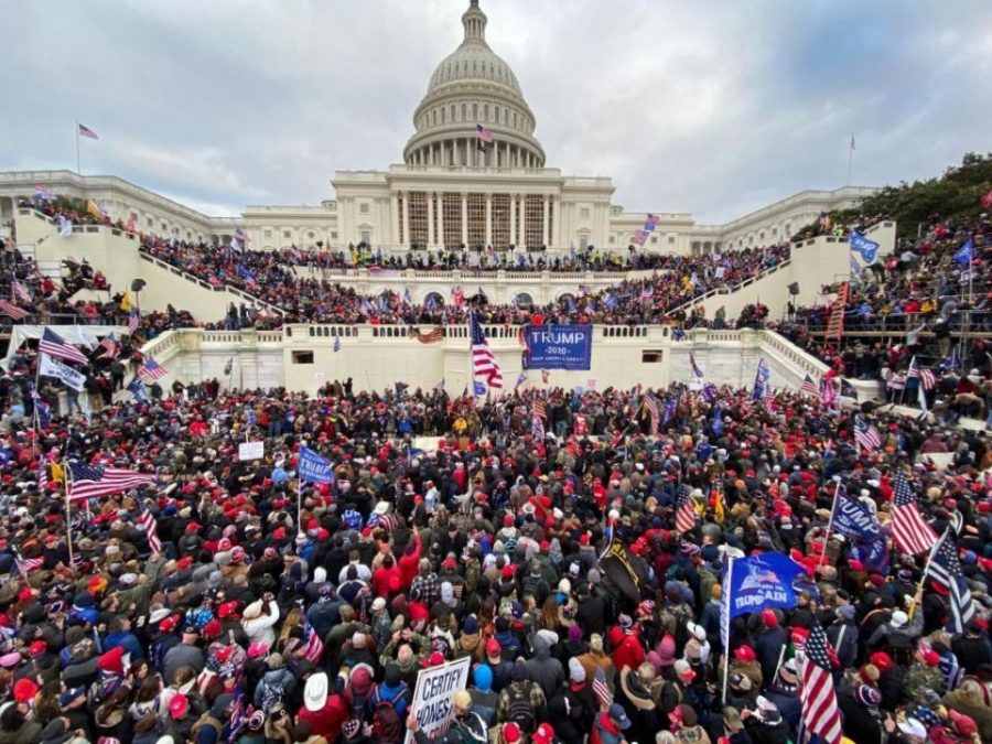 On Wednesday, January 6, thousands of Trump-supporters surrounded the Capitol building, with scores of people forcefully entering the building. Shattered glass surrounded the area and confrontation between police and protesters arose.