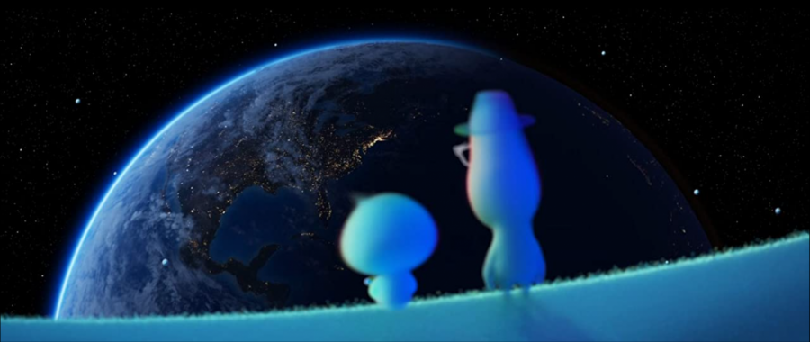 "Gardner (Foxx) and 22 (Fey) gaze upon Earth from ""The Great Ahead."""