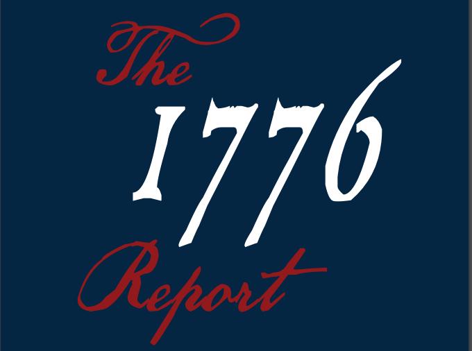 Title page of the 1776 Report. Screenshot captured on Jan. 31, 2021. (Screenshot/Jessica M. Barker)