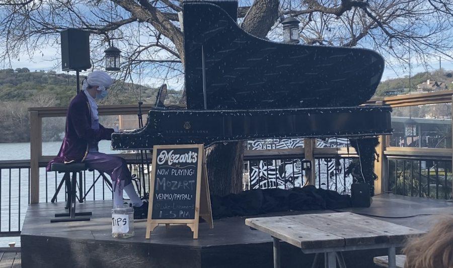 Lozano performs Mozart as Mozart at Mozart's