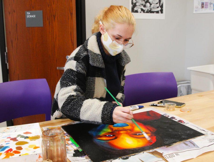 Painting with passion: senior Audrey Goode curates a portfolio