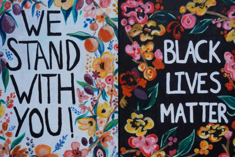 On multiple street corners in Portland, you can find hand-written or painted messages that display support for the Black Lives Matter movement.