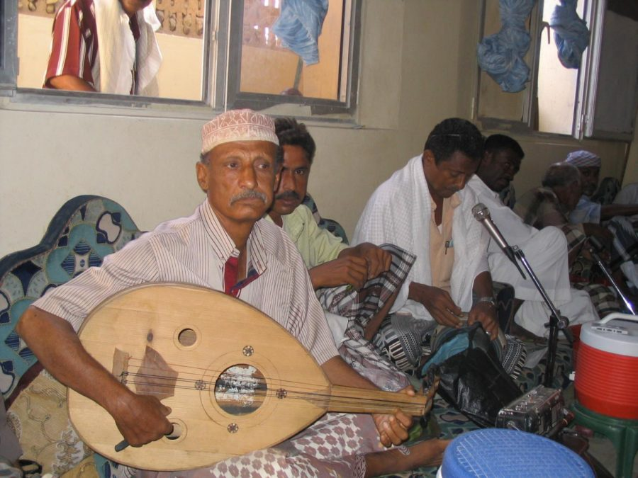 Yemenis+play+music+at+a+cultural+club+in+Aden%2C+Yemen.+The+conflict+between+the+Houthis+and+the+Saudi+Arabian+coalition+has+largely+affected+the+civilian+population+of+Yemen%2C+with+many+facing+famine%2C+disease%2C+poverty+and+a+lack+of+access+to+education.