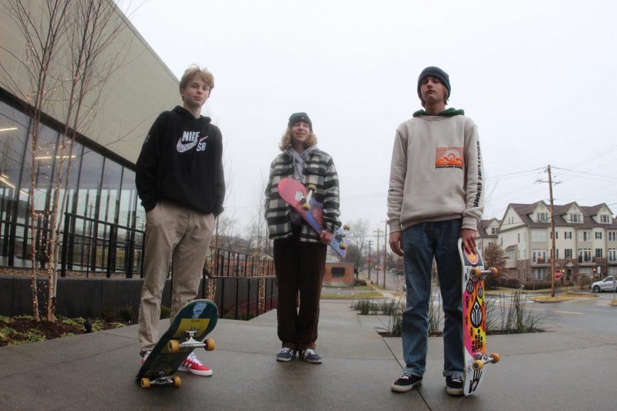 Ryder+George-Lander+%28Left%29%2C+Devon+Bennett+%28Center%29+and+Camden+Davis+%28Right%29+standing+together+with+their+skateboards.