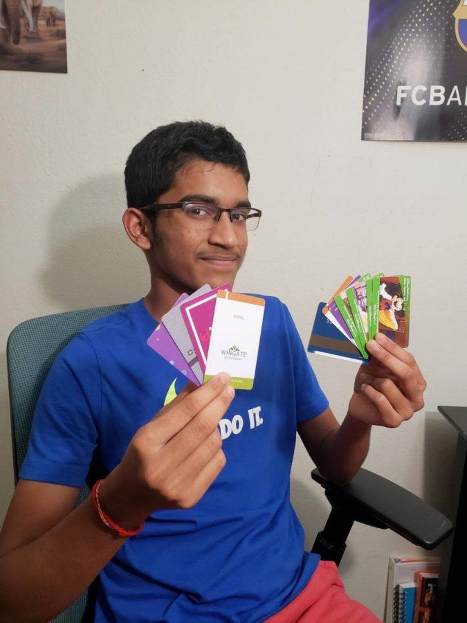 More than just souvenirs: freshman Santosh Sahoo shares his hotel key card collection