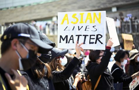 More than 1000 protestors gather at San Jose City Hall to protest hate crimes against Asian Americans and Pacific Islanders (AAPI) on Sunday Mar. 21. The protest was just one of many happening across the nation after the recent spotlight of Asian-directed attacks.
