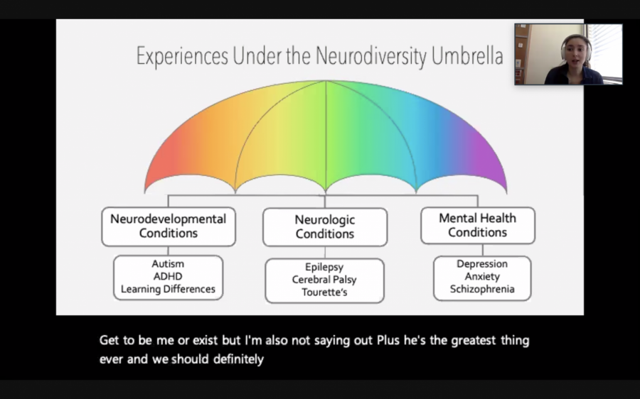 Stanford+Neurodiversity+Project+Program+Coordinator+Isabelle+Morris+talks+about+the+wide+range+of+conditions+in+the+neurodiversity+spectrum+during+her+speaker+event+on+March+11.