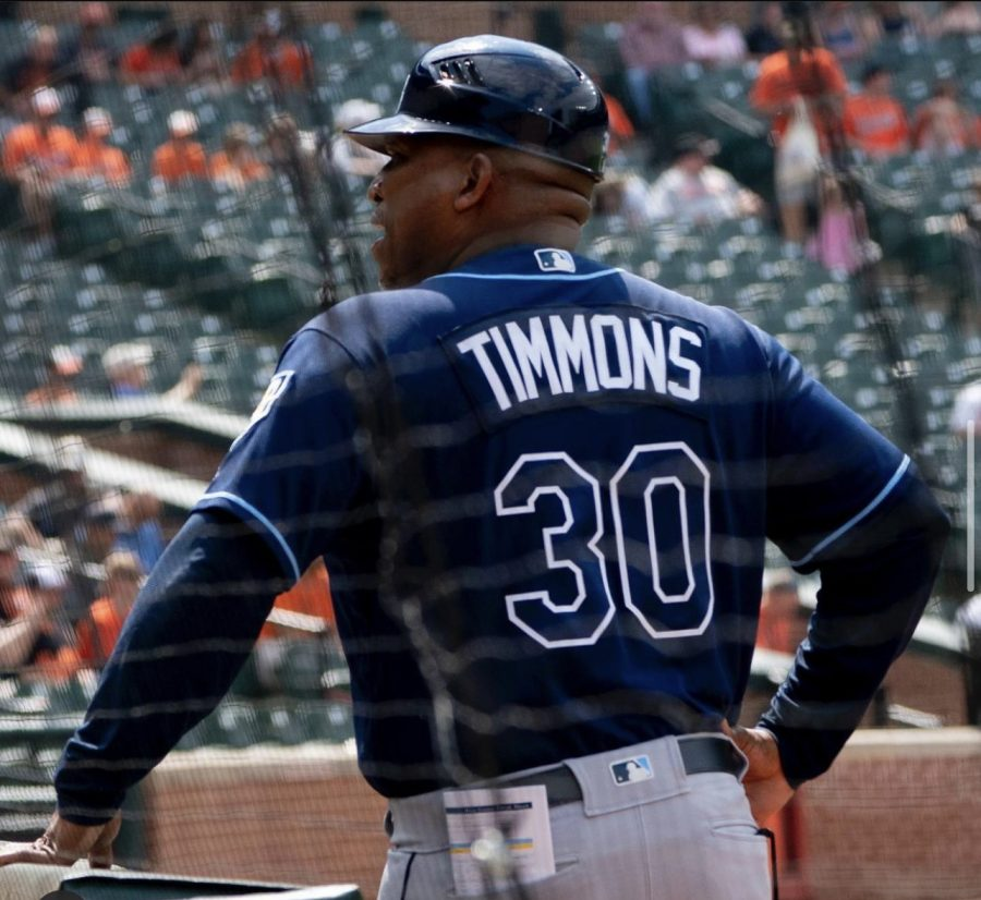 First base coach of the Tampa Bay Rays, Ozzie Timmons