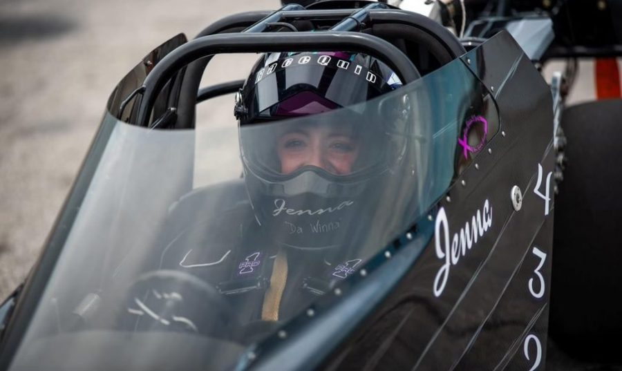 With racing in her blood, junior embraces dragster community