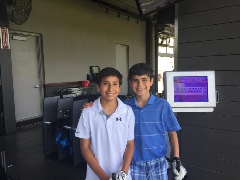 Longtime friends Henry Hodge and Rustin Makhmalbaf enjoying golfing together in 2016.