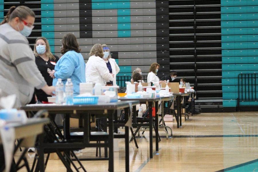 MCHS teachers and staff receive first COVID dose