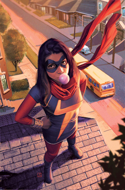 """Disney announced that actress Iman Vellani, an Muslim Pakistani-American, would be playing Kamala Khan in """"Ms. Marvel'' that'll come out on Disney+ in late 2021."""
