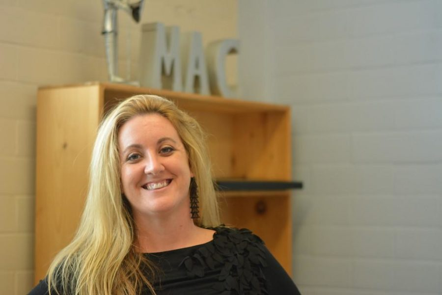 """Heather Ramsay sits in her mostly empty office at the beginning of the fall semester 2016 when she started her tenure as fine arts coordinator. Due to AISD budget shortfalls, Ramsay will no longer be working at McCallum for the upcoming 2021-22 school year. While she called McCallum family, she also said she was looking forward to future opportunities. """"I feel that the universe opened a door for me that I wasn't sure whether I needed to open,"""" Ramsay said. """"For someone who's in my position and just the way I've always worked, I constantly have my own personal and professional goals--I'm always looking into the future. So losing this position is not a stop in my life. It's just now that this particular door is closed. I've been thinking about all these other things in my life that I have the capabilities of doing and places I want to go and live, and maybe this is the universe providing a doorway so that I can go and do that."""""""