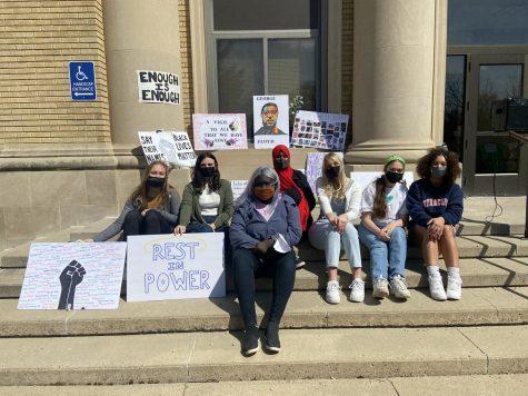 Vigil Organizers: Sydney Hunst, Maddie Moen, Wilo Omot, Fardouza Farah, Jenna Dallenbach, Sabella Mass, and Janessa Moore