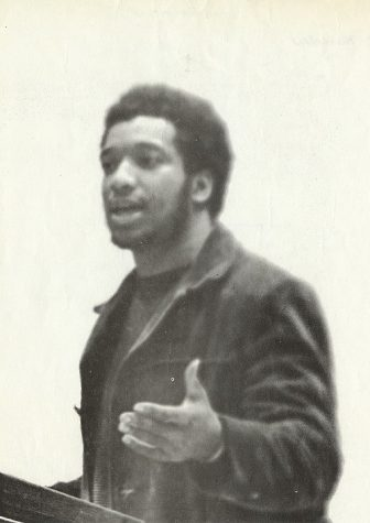 "The real Fred Hampton gives a speech. He was depicted by Daniel Kaluuya in ""Judas and the Black Messiah."""
