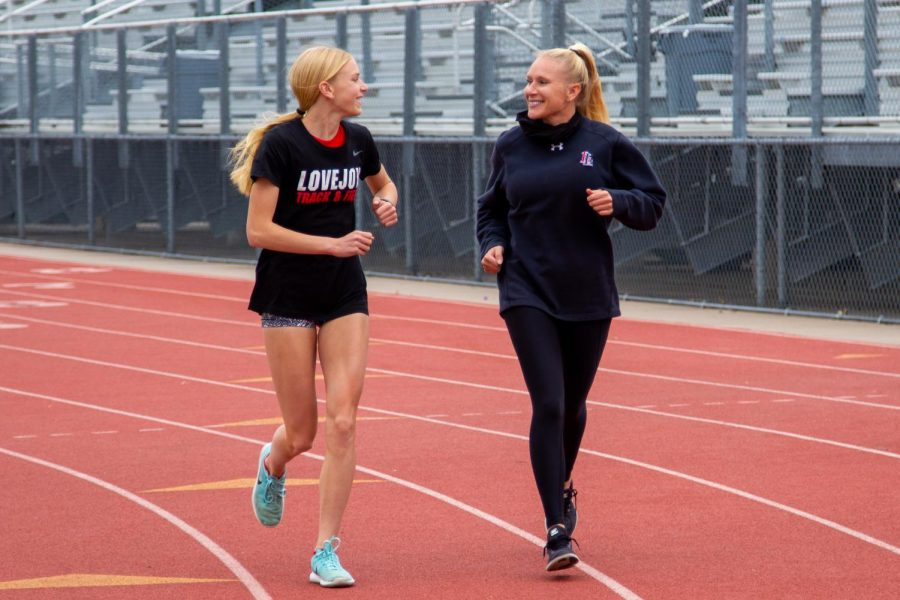 Girls+track+coach+Carly+Littlefield+ran+track+in+high+school+and+college.+Carly%27s+daughter+Kailey+shares+her+same+passion+for+running.