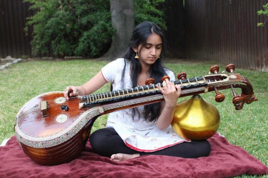 Sarangapani embracing culture through veena