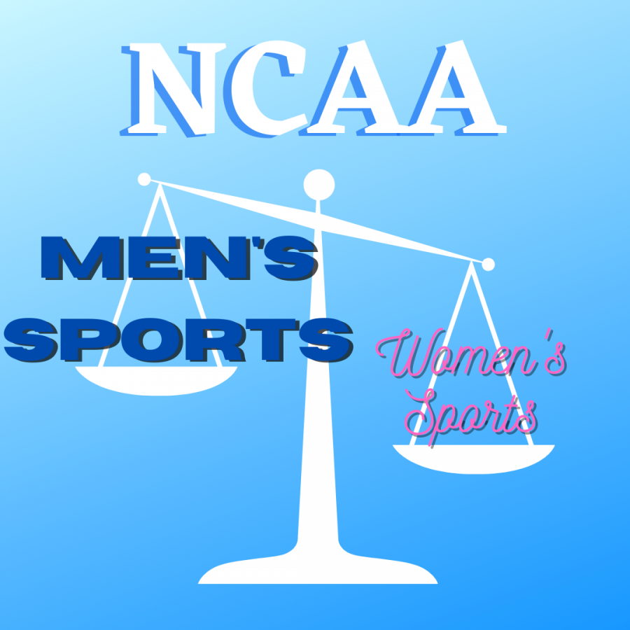 The graphic represents the NCAA's unfair treatment towards women's sports. Which was prevalent at the past March Madness Tournament.