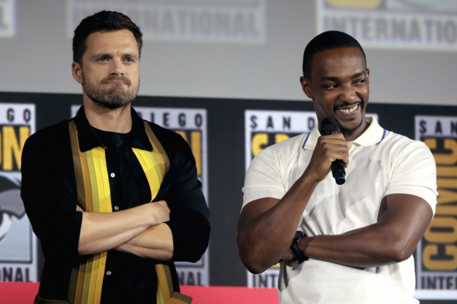 Sebastian+Stan+and+Anthony+Mackie+star+as+Bucky+Barnes+and+Sam+Wilson+in+Marvel%E2%80%99s+newest+TV+show%2C+%E2%80%9CThe+Falcon+and+the+Winter+Soldier.%E2%80%9D+Despite+the+high+bar+set+by+Marvel%E2%80%99s+premier+Phase+IV+TV+show%2C+%E2%80%9CWandaVision%2C%E2%80%9D+the+new+show+lacks+a+sense+of+innovation+and+thoughtfulness.