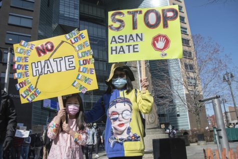 Activists met at Spirit Plaza in the city of Detroit to hold a Stop Asian Hate rally and march on March 27, 2021, standing in solidarity with cities across the nation fighting against white supremacy and racism.