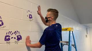 Seniors got to place their handprint on the wall this week, as part of a favorite Baldwin tradition.