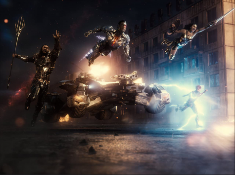 "The Justice League leap into battle in ""Zack Snyder"