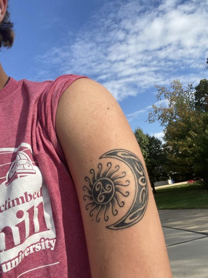 "Andrew Messina, senior, gets a tattoo in remembrance of his late uncle. ""I want to still keep that tattoo that was his alive and that memory of it, you know that my family has alive,"" Messina said."
