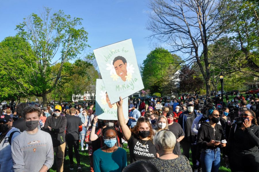 Around 500 people gathered in the Hopkinton Town Common on May 6 to remember the life of Mikayla Miller.