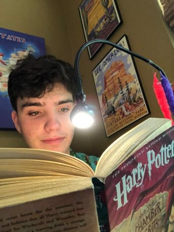 "Junior Joshua Nemery enjoys childhood classic ""Harry Potter."" However, the series"