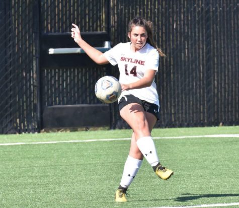 Keely Anderberg, seen in this image, is part of the Skyline College Women