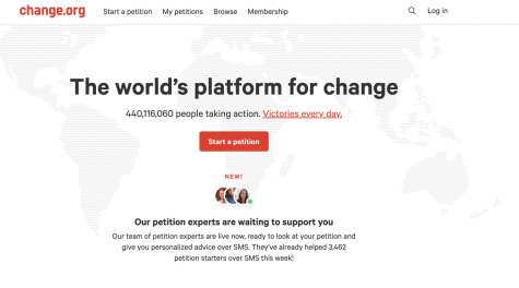 Change.org is a platform that allows users to create online petitions and request leaders to make change