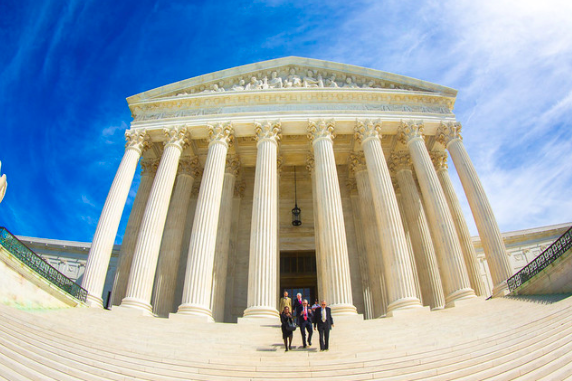 The Supreme Court building in Washington, D.C.. Later this year, the nine justices of the Supreme Court will weigh in on a case concerning the limits of student expression when off-campus.