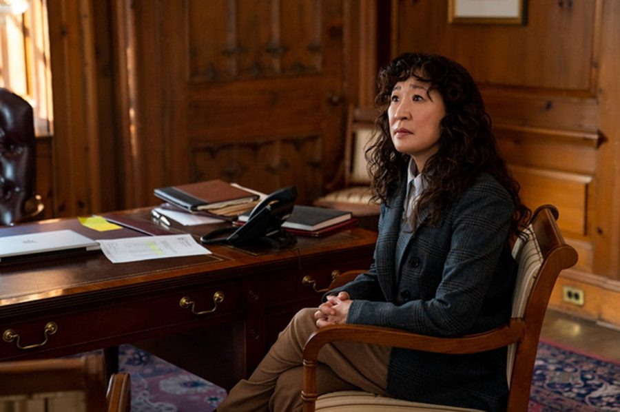 Sandra Oh, known for Grey's Anatomy and Killing Eve, stars in Netflix's The Chair as Ji-Yoon Kim, the brand new chair of fictional Pembroke University's English department. As she navigates being the first woman to hold the role, she must also deal with controversies within the department.